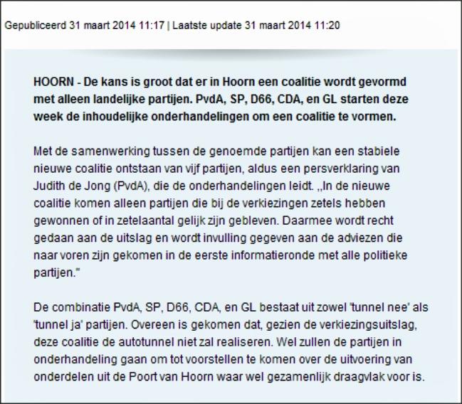 NHD 31032013 Coalitie PvdA, SP, D66, CDA en GL