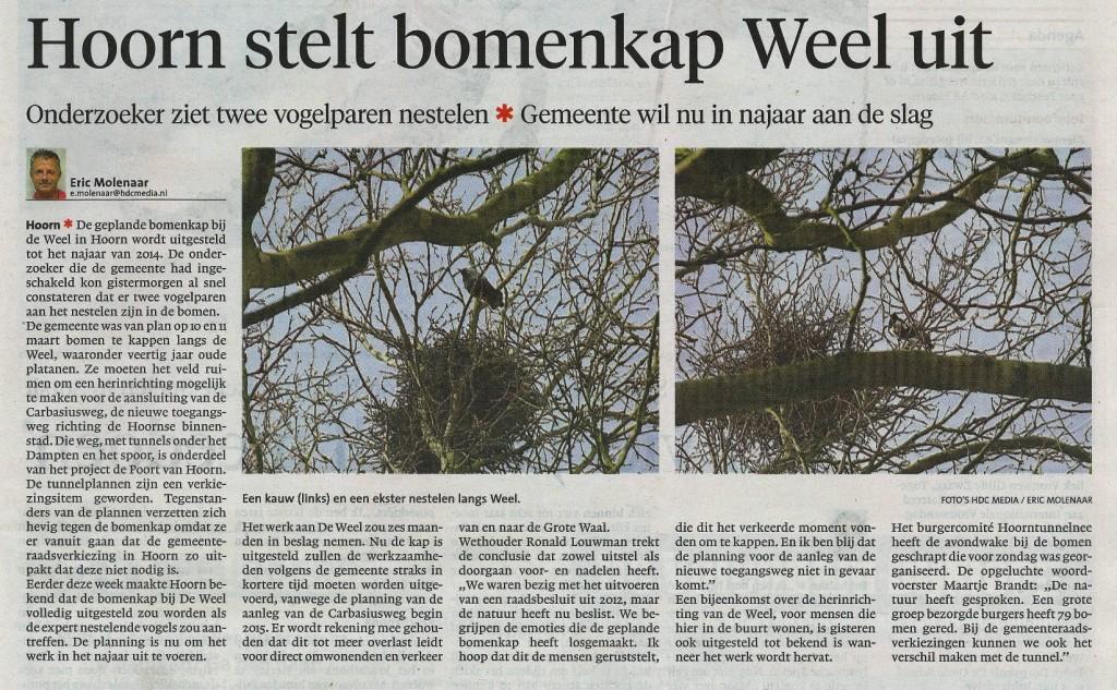 NHD Hoorn stopt bomenkap 07032034