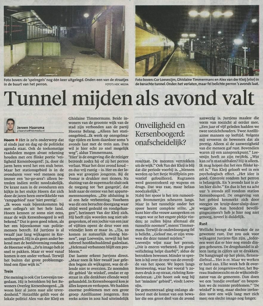NHD Tunnel KB mijden 26022014