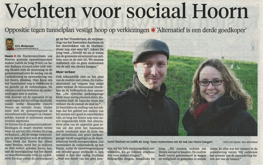NHD Vechten voor sociaal Hoorn 15022014
