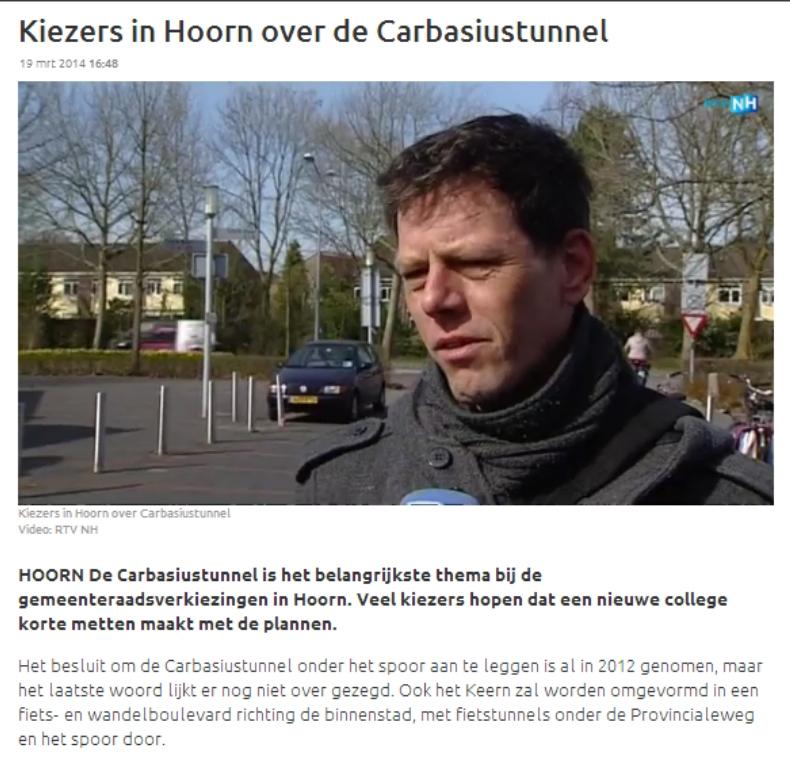 RTV NH 19032014 Kiezers in Hoorn over tunnel