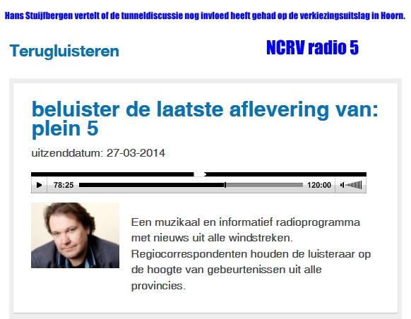 Radio 27032014 Stuijfbergen duidt de verkliezingsuitslag bij de NCRV Link naar de uitzending