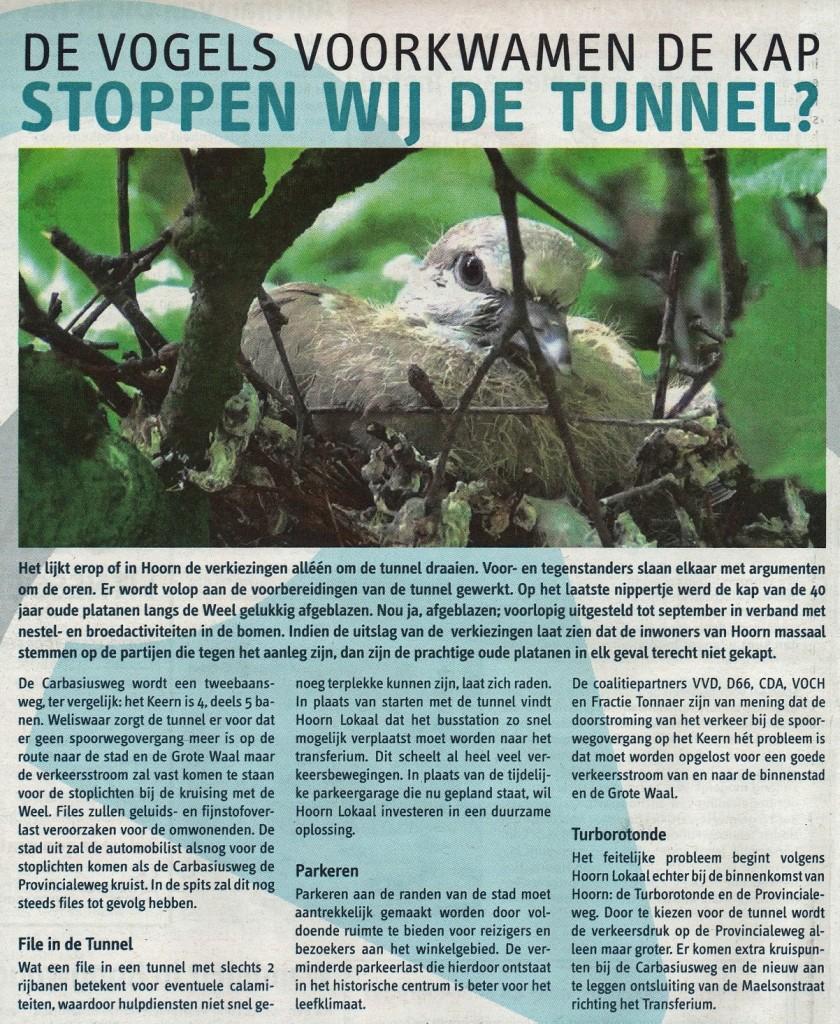 Rode zondagskrant 16032014 Advertentie Hoorn Lokaal 1