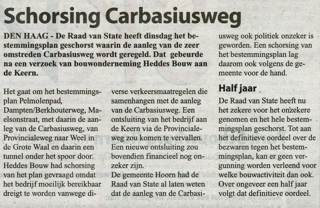 WvWF 14052014 Schorsing bestemmingsplan Carbasiusweg
