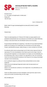 Vragen SP - aanbesteding Carbasiusweg en reconstructie De Weel 19022014
