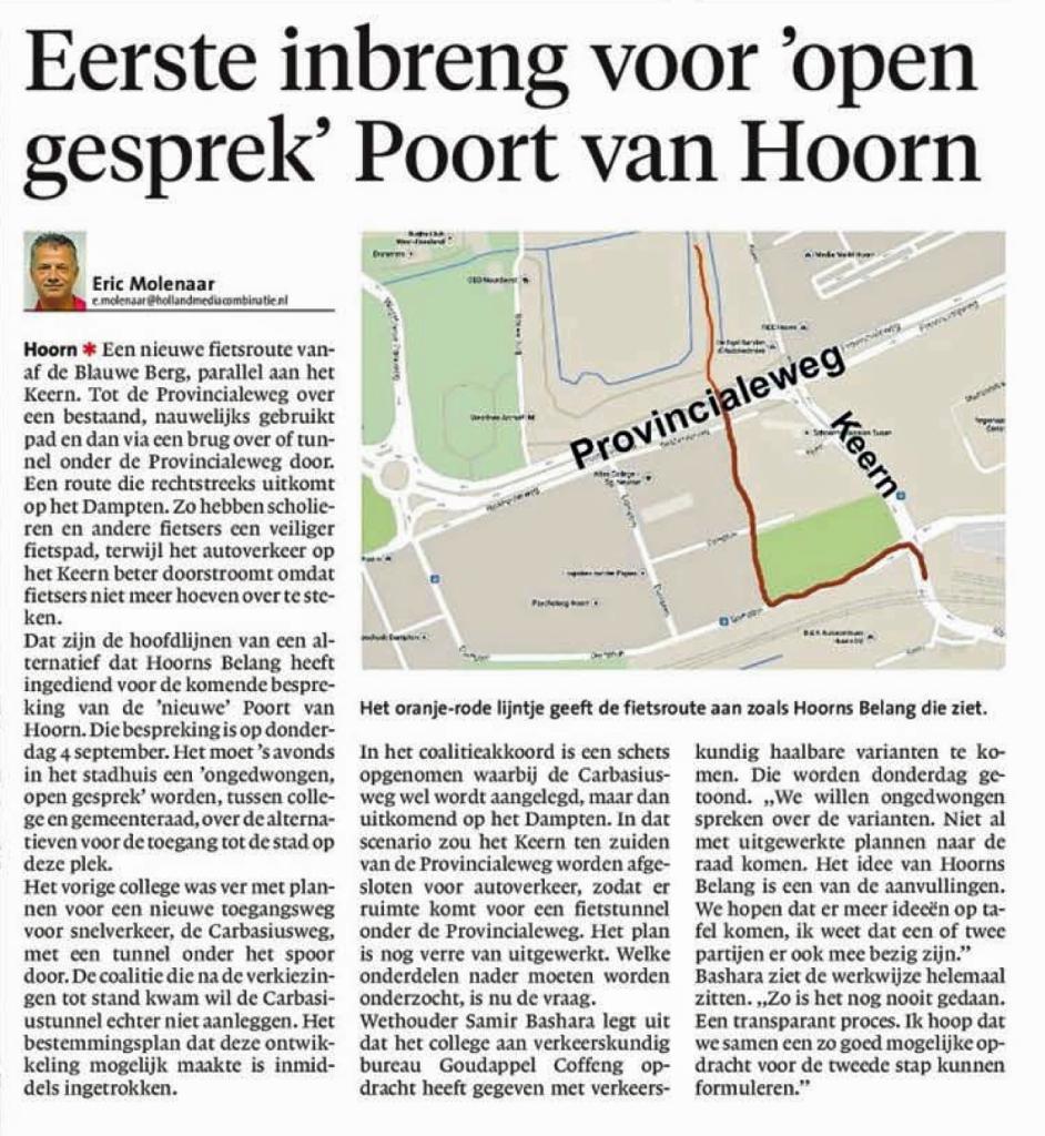 NHD 29082014 Alternatief plan Hoorn Belang